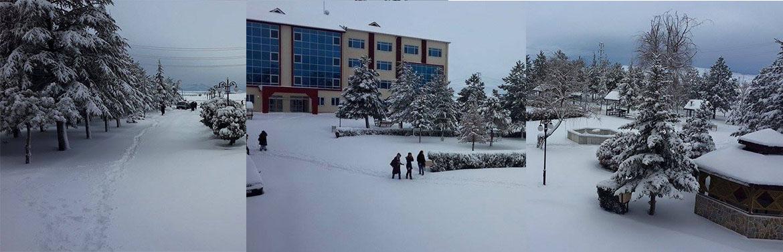 Sandıklı Meslek Yüksekokulu'nda Kış